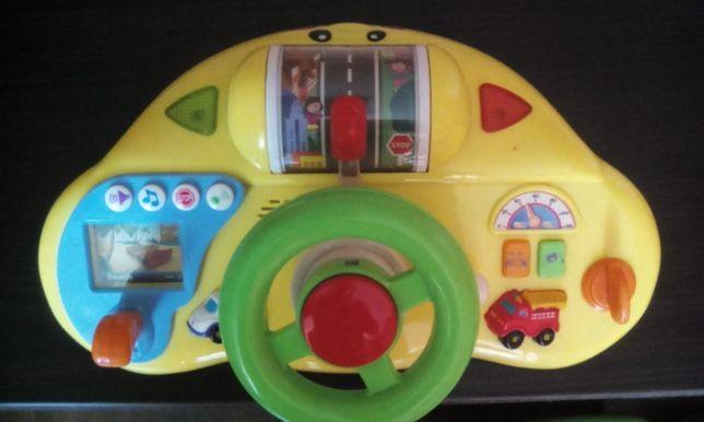 Игровая панель Автошкола Kiddieland руль