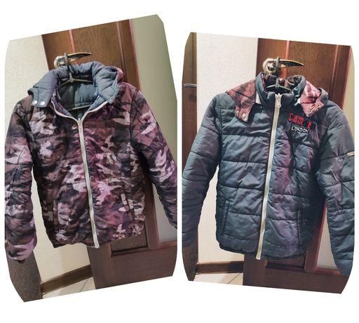 Двухсторонняя куртка для мальчика iDO, еврозима, на рост 152