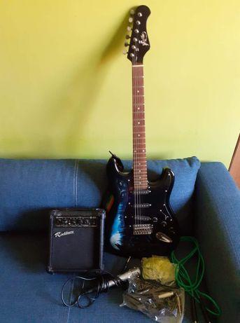 Gitara elektryczna Jaxville+wzmacniacz+mikrofon. Możliwa wysyłka.