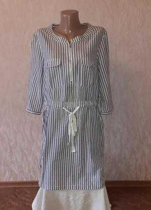 Летнее, легкое платье в полоску Сortefiel. Испания. р. M-L