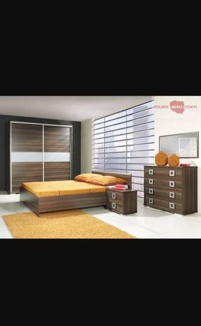 Zestaw do sypialni zł łóżko 160x200, komoda, 2 szafki nocne