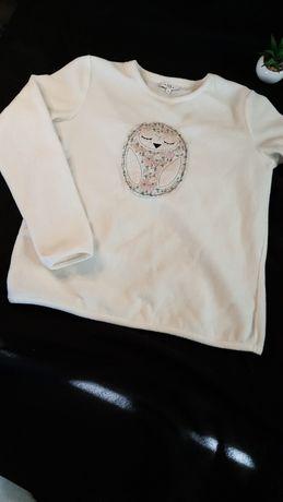 Sowa biała bluza/piżama na zimę lub jesień