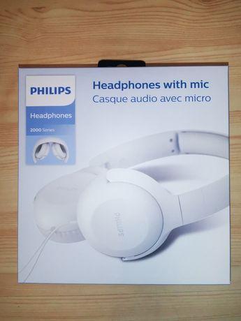 NOWE Słuchawki Nauszne PHILIPS 2000 z mikrofonem