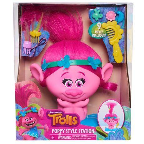 Trolle, Poppy, Stacja do stylizacji z głową Poppy