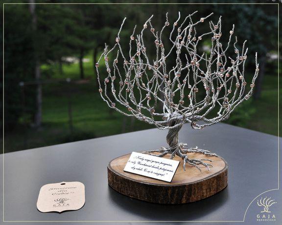 Drzewko Szczęścia z grawerem, prezent pamiątka, komunia, rocznica