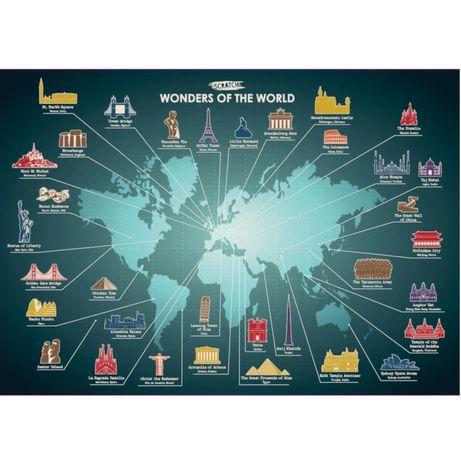 Mapa zdrapka cuda świata