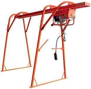 Guincho eléctrico + Cavalete pórtico para construção civil 300 Kg 25mt