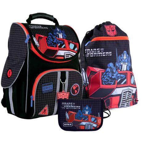 Школьный комплект КАЙТ Рюкзак ортопедический сумка пенал для мальчика.