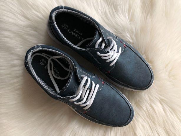 Męskie buty niebieskie Gino Lanetti CCC 43 sportowe