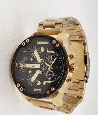 Zegarek złoty duża tarcza nowy modny