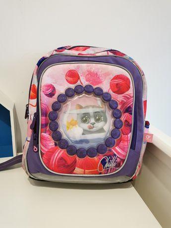 Plecak szkolny Topgal koty różowo fioletowy Stan idealny