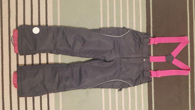 Spodnie zimowe narciarskie dziewczęce rozmiar 134cm