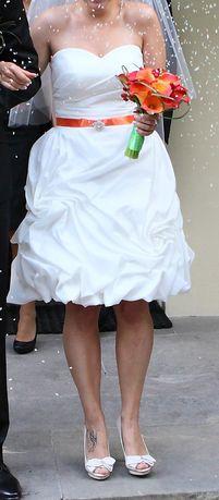 Krótka suknia ślubna rozm 36