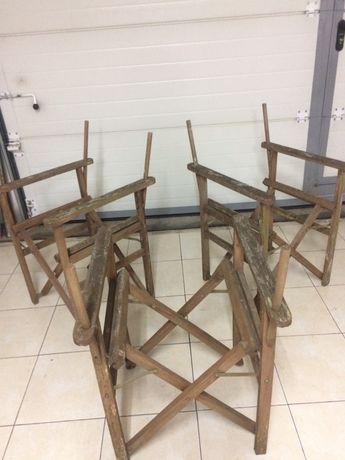3 Cadeiras e 1 Banqinho para recuperar. Articulados. Antigos
