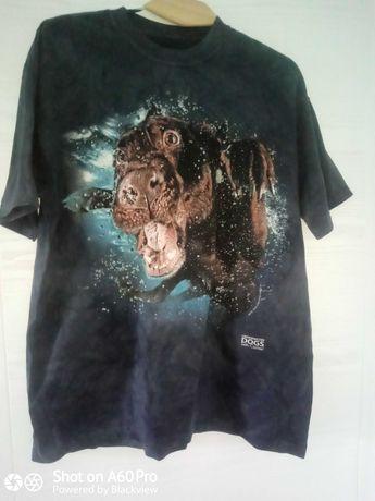 3Д футболка the mountain Собака под водой. США. р54- L. Новая. Хлопок
