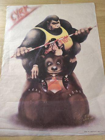 Plakat cyrkowy, piramida! Rok '87.