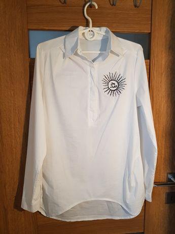 Biała koszula ciążowa i do karmienia r.38