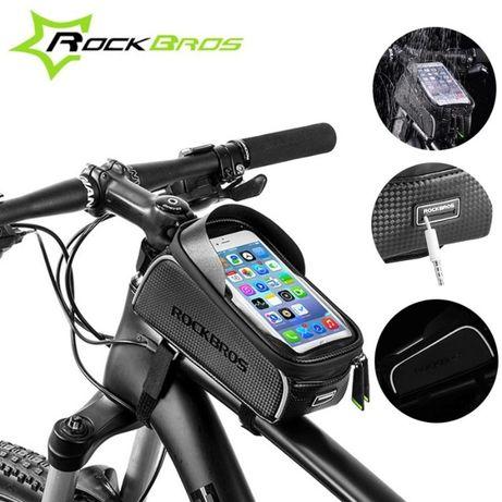 Велосумка на раму для телефона Rockbros ReflectiveTop, нарамная сумка