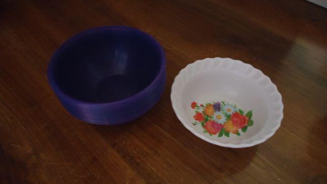 (paczkomat 1zł) 10zł/7szt fioletowe miseczki plastikowe miski małe