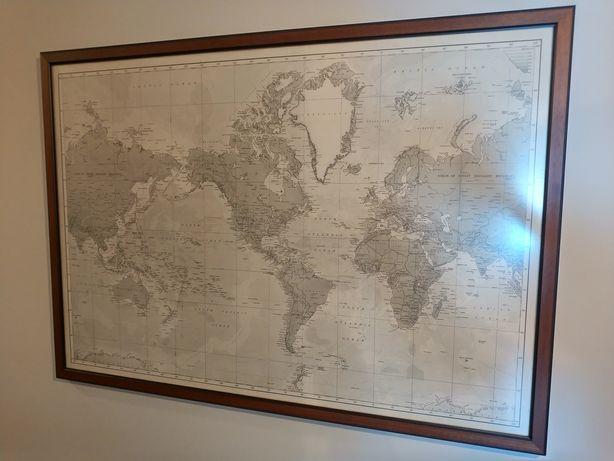 Mapa mundo/ carta antiga década de 60/70