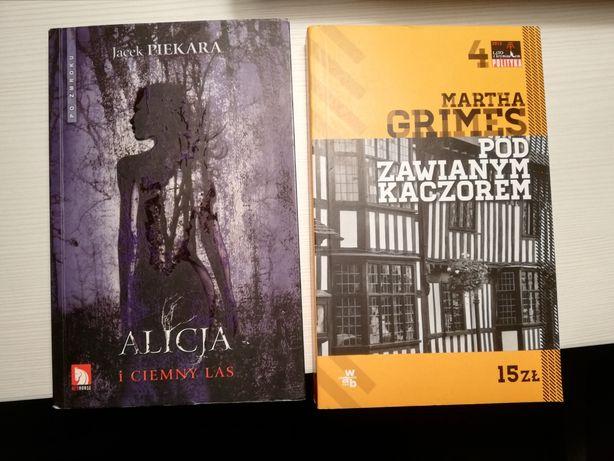 """Książka """"Alicja i ciemny las"""" i """"pod zawianym kaczorem"""""""
