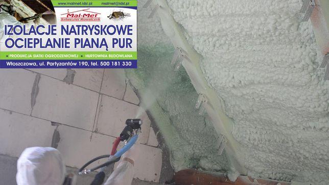 Ocieplanie Pianką- Izolacje natryskowe Pianką Pur Włoszczowa