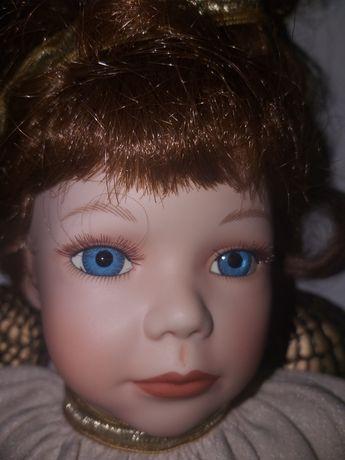 Stara,autorska lalka porcelanowa z sygnaturą