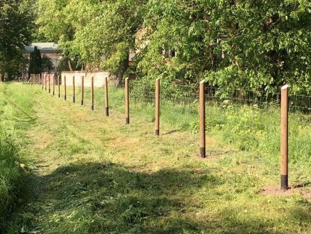 Siatka leśna ogrodzenie - działka plac budowa uprawa gospodarstwo