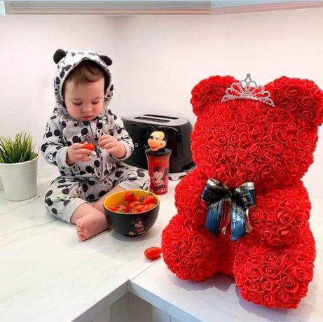 Мишка из роз Подарок девушке,ребенку Цветы Оригинальный подарок