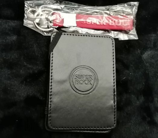 Porta cartões e porta chaves da Super Bock - NOVOS