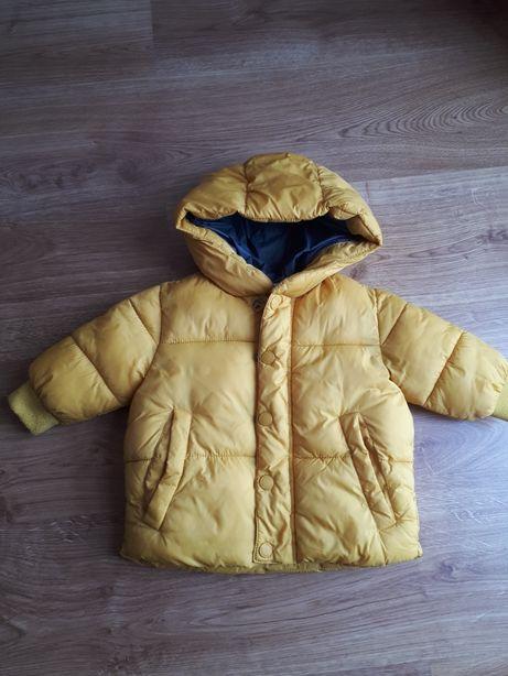Kurtka Zara 68 żółta puchowa ocieplana pikowana