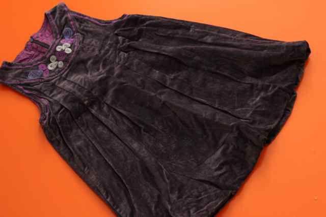 PHISTER&PHILINA duńska sukienka aksamit haft 6 L 116 BDB okazje święta