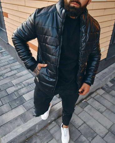 Цена снижена на 29%! Зимняя кожаная куртка Asos! Турция! ТОП качество