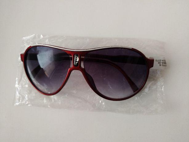 Детские солнцезащитные очки авиаторы капельки, оправа красная