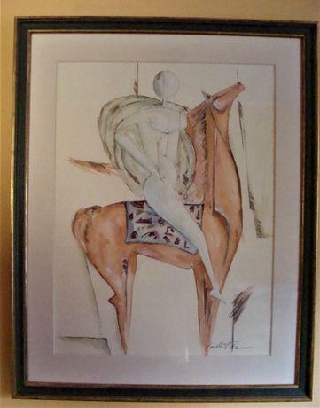 Akwarela Jeździec