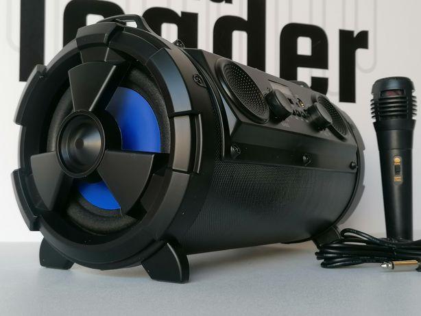 MOCNY BASS głośnik subwoofer bluetooth radio budowlane karaoke tuba