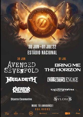 Bilhete Festival VOA, 30 jun 2022