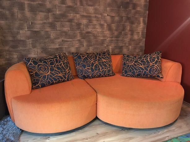 Kanapa Sofa Rozkladana DUŻA materiałowa nowoczesna leżanka schowek