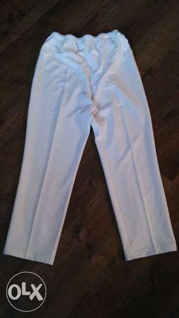 spodnie ciazowe biale