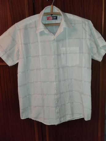 Рубашка школьная подростковая с коротким рукавом