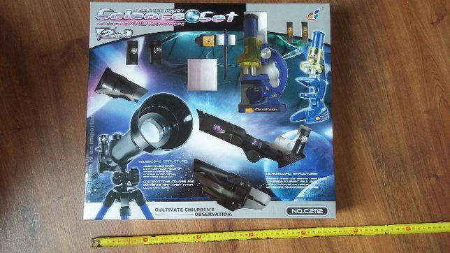 Zestaw teleskop i mikroskop z akcesoriami
