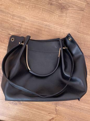Большая черная сумка сумочка чорна