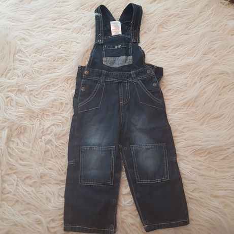 Джинсовые штанишки,комбинезон  lupilu 12-18 мес