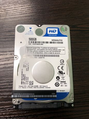 Hdd 500 gb notebook