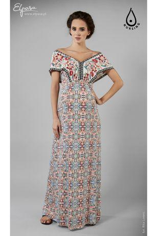 Długa sukienka ciążowa i do karmienia Elpasa