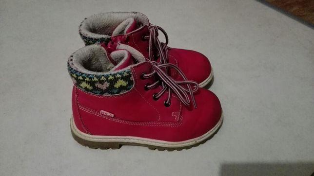 Buty zimowe dziewczece, trzewiki roz 25