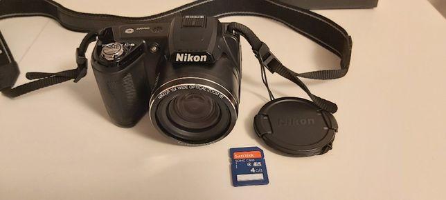 Aparat cyfrowy Nikon Coolpix L110 + torba + karta pamięci 4 GB