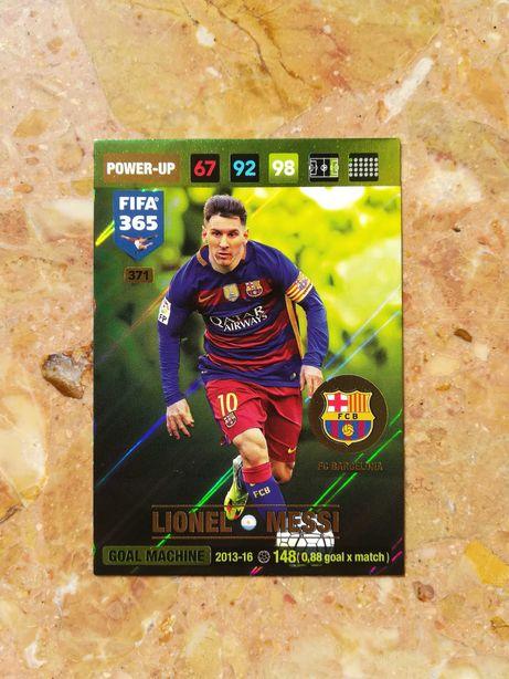 Karta Piłkarska Adrenalyn Panini Fifa 365  2017 Lionel Messi Power-up