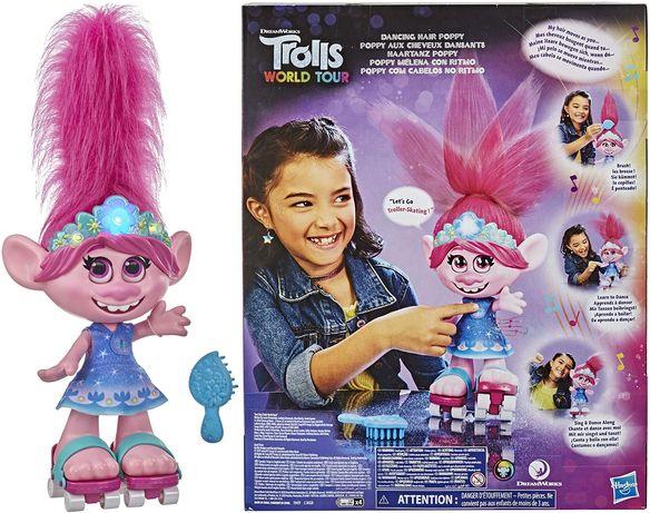 Тролли. Мировой тур: Розочка. Танцующие волосы. Оригинал Троли Hasbro