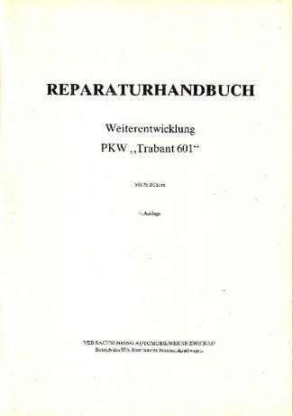 Instrukcja napraw samochodu Trabant 601